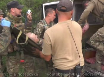 Evacuation of the wounded, who stepped on a mine, May 2016 (18+)