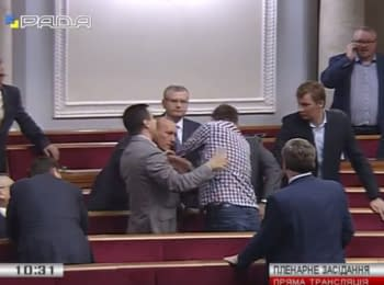 Parasyuk put up a fight with people's deputy Kolesnikov in Verkhovna Rada