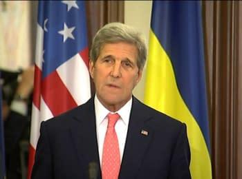 Брифінг Президента Порошенка та Державного секретаря США Джона Керрі