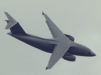AN-178's demonstration flight at the Farnborough air show