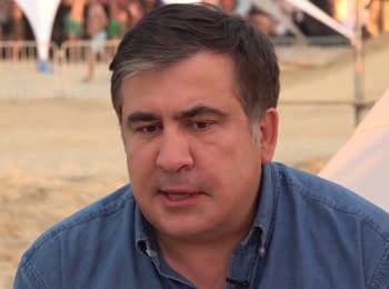 Інтерв'ю Міхеїла Саакашвілі з Романом Скрипіним в Затоці