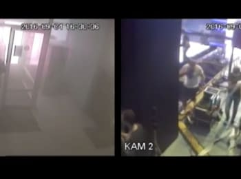 "Arson of the TV channel ""Inter"": video from surveillance cameras"