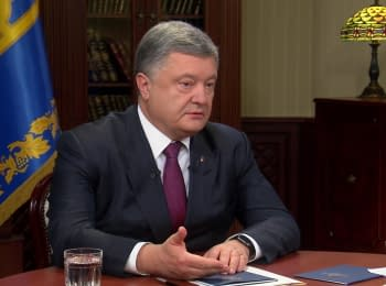 Interview of the Ukraine's President Poroshenko to the Ukrainian TV channels, 23.10.2016