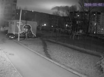 В Санкт-Петербурге испортили портрет российского террориста Моторолы