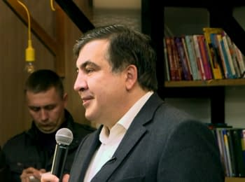 Mikheil Saakashvili meeting with the community of Odessa