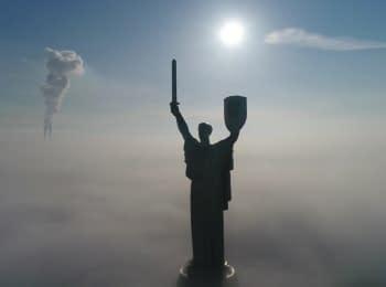 Город в тумане. Киев, 18.01.2017