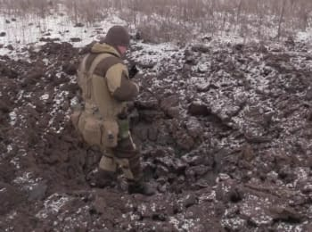 Terrorists used artillery against positions of the Ukrainian soldiers