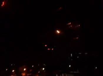 Террористы ДНР обстреляли градом Авдеевку из Донецка