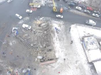 """Наслідки вибуху біля """"Мотеля"""" в Донецьку, 03.02.2017"""