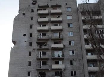 Terrorists shelled the residential area of Avdiivka with tank, 11.03.17