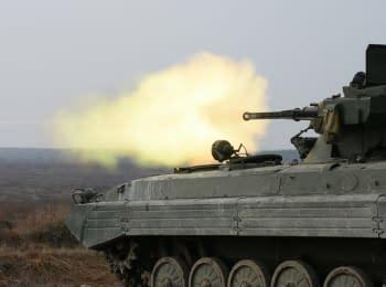 """Огневые испытания боевых модулей """"Шквал"""" и """"Стилет"""" для БМП"""