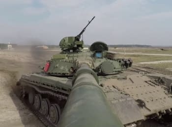 Test of the T-64 before being sent to the Armed Forces of Ukraine