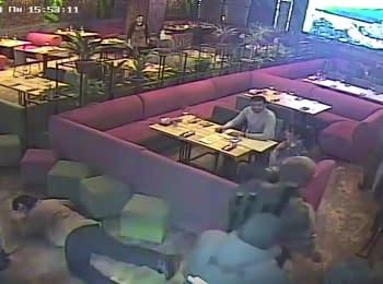 """Задержание Саакашвили в ресторане """"Сулугуни"""" в Киеве, 12.02.2018"""