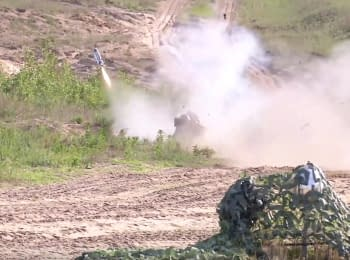 Javelin missile launches in Ukraine