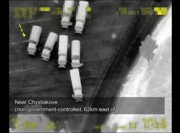 OSCE SMM spotted convoys of trucks entering and exiting Ukraine in Donetsk region