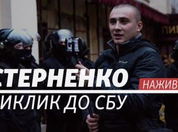 Sternenko. Rally near SBU